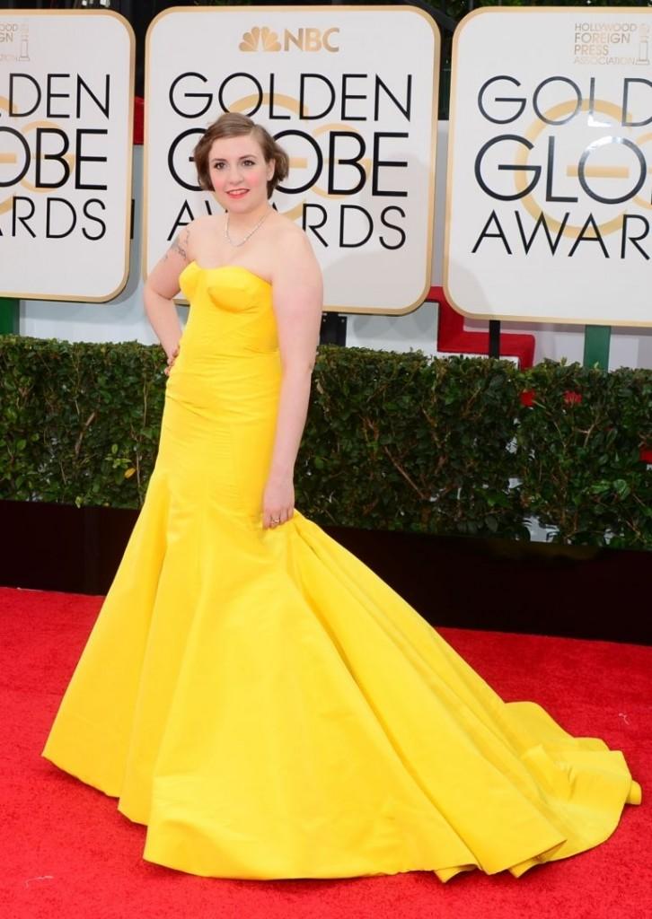Lena Dunham   Golden Globes© Red Carpet 2014/AFPRELAX©