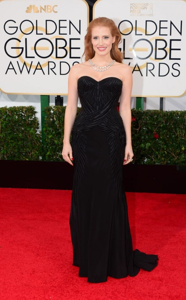 Jessica Chastain en Givenchy Haute Couture   Golden Globes© Red Carpet 2014/AFPRELAX©