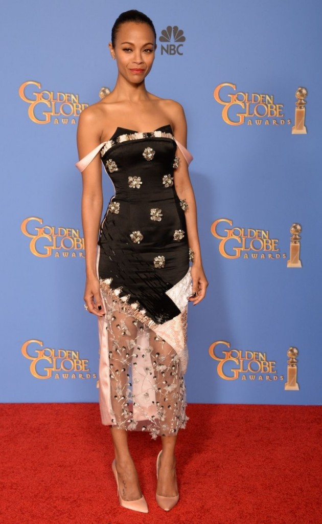 Zoe Saldaña en los Golden Globes© Red Carpet 2014/AFPRELAX©